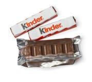 Более добросердечные шоколадные батончики на белизне стоковое фото rf