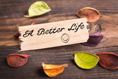 Более лучшая жизнь в карточке стоковое изображение