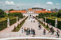Более низкий дворец бельведера в вене, Австрии стоковые фотографии rf