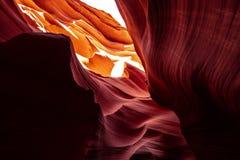 Более низкий каньон антилопы в Аризоне - самом красивом месте в пустыне стоковые изображения rf