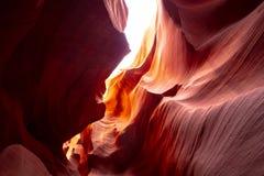 Более низкий каньон антилопы в Аризоне - самом красивом месте в пустыне стоковое изображение