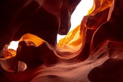 Более низкий каньон антилопы в Аризоне - самом красивом месте в пустыне стоковое фото
