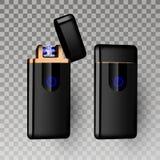 Более светлый вектор Инструмент газа сигареты более светлый гореть реалистический Piezo электрический более светлый значок 3D илл иллюстрация вектора