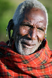 более старый masai Кении Стоковое Изображение