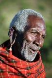 более старый masai Кении Стоковое Изображение RF