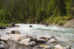 более lussier река гор утесистое Стоковая Фотография RF