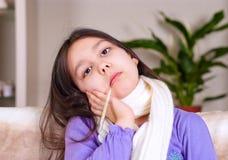 болезнь девушки Стоковые Изображения RF