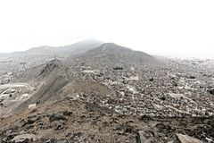 Боливия/прописной взгляд Paz Ла от mirador стоковые изображения rf