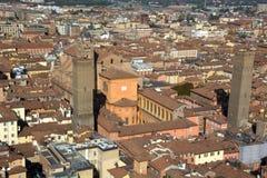 Болонья раз была вызвана городом 100 башен Стоковые Изображения