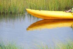 болото kayaker стоковое изображение rf