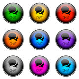 БОЛТОВНЯ цвета кнопки иллюстрация вектора