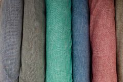 Болты теней linen ткани пастельных Стоковое Изображение