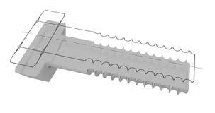 Болт в разделе Стоковое фото RF