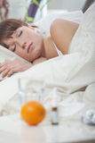 больная женщина стоковая фотография rf