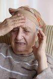Больная старшая женщина Стоковое фото RF