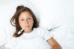 больной девушки Стоковая Фотография RF