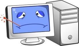 Больной компьютер Стоковые Изображения RF