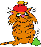 больной кота Стоковое Фото