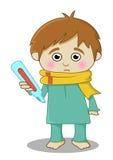 Больной мальчика иллюстрация вектора