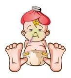 больной младенца иллюстрация вектора