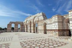 Большая базилика на первой болгарской столице стоковое изображение