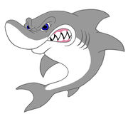 большая белизна акулы Стоковое Изображение