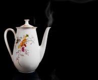 большая белизна пар чайника Стоковые Фото