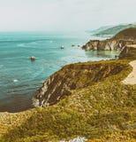 Большая береговая линия Sur около Монтерей, CA Стоковое Изображение