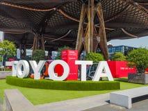 Большая будочка от погрузо-разгрузочной работы Тойота на CeMAT 2018 Стоковые Фотографии RF