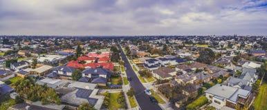 Большая воздушная панорама недвижимости в Carrum стоковое фото