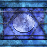большая голубая рамка внутри меньшего фото Стоковые Изображения