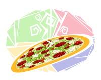Большая горячая пицца стоковое фото rf