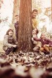 Большая группа в составе дети Стоковая Фотография RF