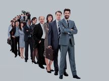 Большая группа в составе предприниматели Стоковые Фото