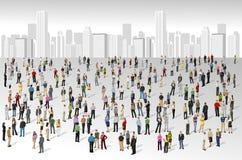 Большая группа людей бесплатная иллюстрация