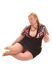 большая девушка платья стоковая фотография