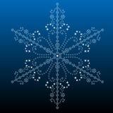 большая детальная филигранная снежинка Стоковая Фотография RF