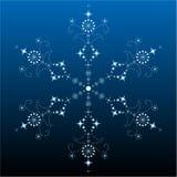 большая детальная филигранная снежинка Стоковые Изображения