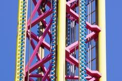 Большая деталь машины езды carousel летания Стоковое Изображение