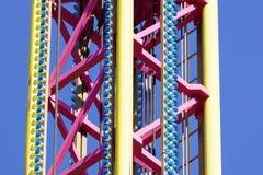 Большая деталь машины езды carousel летания Стоковые Фото