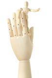большая диаграмма человек руки маленький стоя деревянн Стоковые Изображения RF