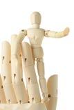 большая диаграмма человек руки стоя деревянн Стоковая Фотография