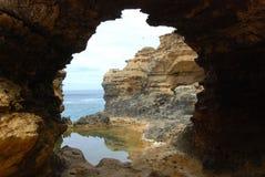 большая дорога океана grotto Стоковая Фотография