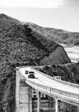 Большая дорога Sur прибрежная около Монтерей, CA Стоковое фото RF