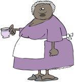 Большая женщина держа чашку чая Стоковые Фото