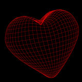 большая иллюстрация сердца 3d Стоковое Изображение