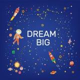 Большая карта мечты с космосом и звездами - иллюстрацией вектора иллюстрация вектора
