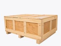 большая клеть груза деревянная Стоковые Фото
