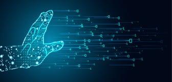 Большая концепция доминирования данных и искусственного интеллекта иллюстрация штока