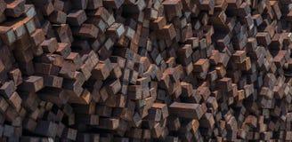 Большая куча неиспользованных и сброшенных плиток железной дороги с большими текстурами для предпосылки стоковое фото rf